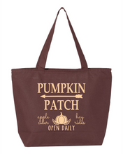 Load image into Gallery viewer, Fall Zippered Canvas Bag