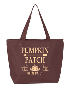 Fall Zippered Canvas Bag