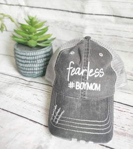 Fearless #boymom Hat