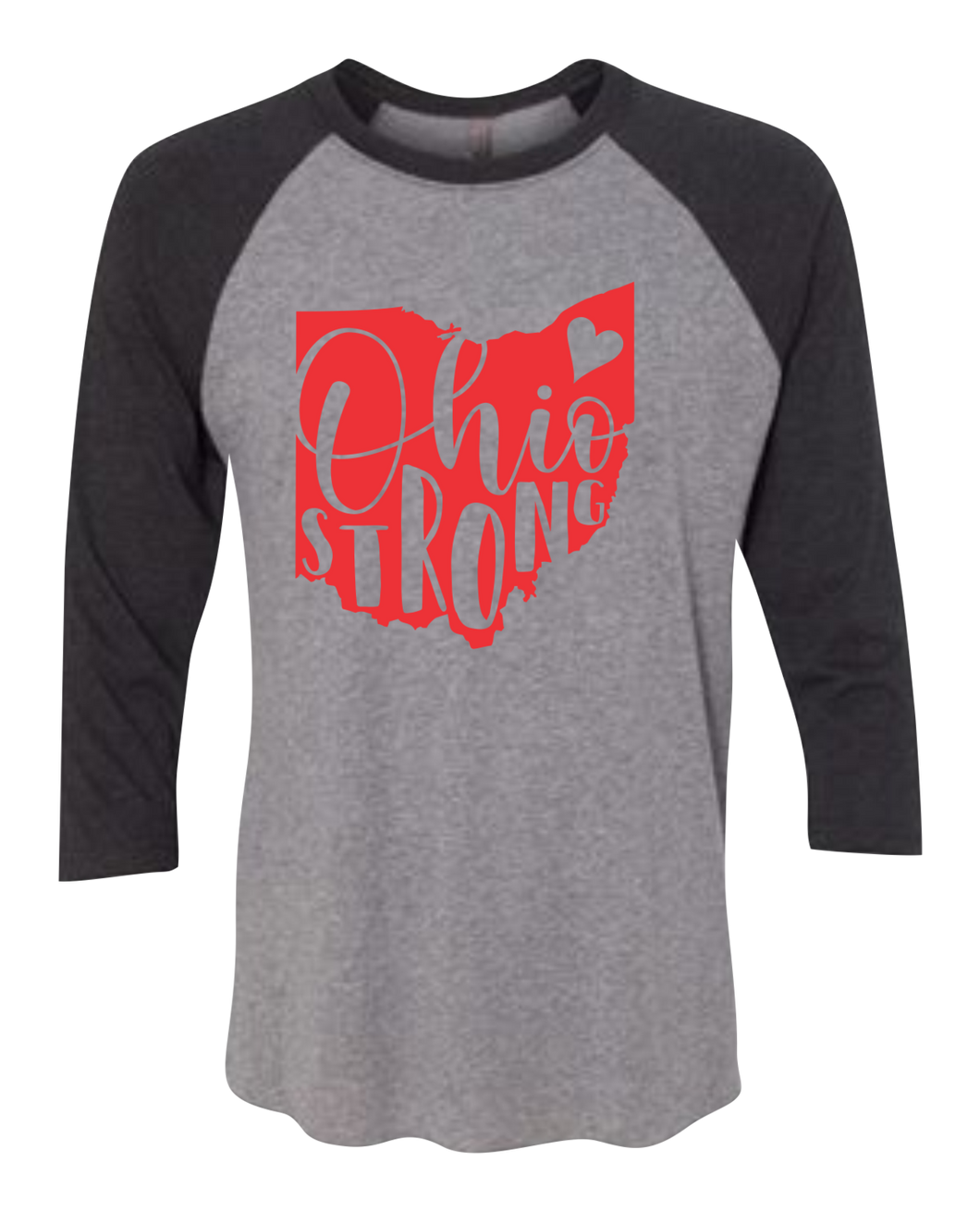 Ohio Strong Raglan 3/4 Sleeve Graphic Shirt
