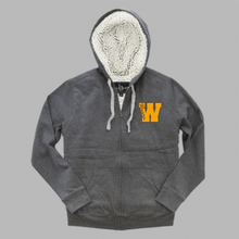 Load image into Gallery viewer, Sherpa Full Zip Hooded Sweatshirt