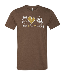 Peace, Love, Your Sport Short Sleeve Graphic T-shirt