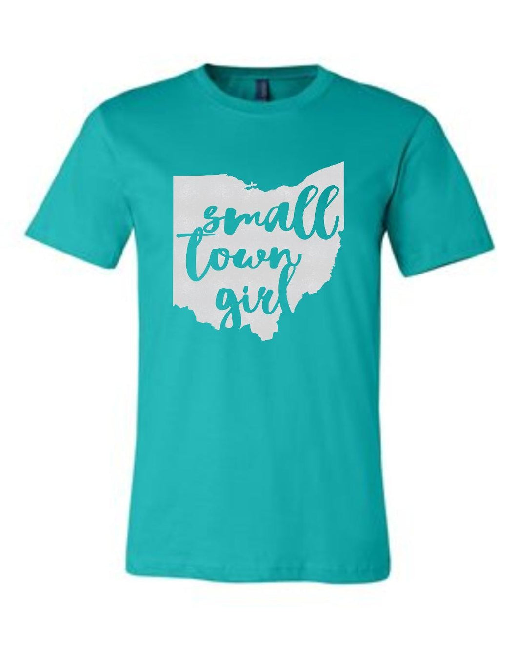 Small Town Girl with State Short Sleeve Graphic T-shirt