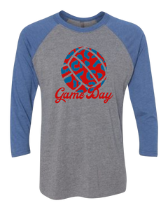 Leopard Game/Race Day Raglan 3/4 Sleeve Graphic Shirt