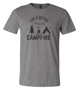 Life is Better Around the Campfire Short Sleeve Graphic T-shirt