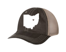 Load image into Gallery viewer, State with Hometown Heart Hat