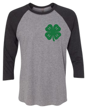 Load image into Gallery viewer, 4-H Country Roots Raglan 3/4 Sleeve Graphic Shirt