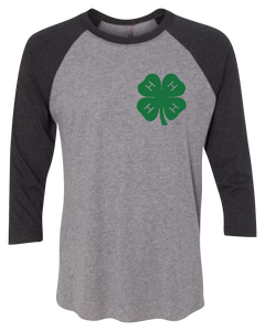 4-H Country Roots Raglan 3/4 Sleeve Graphic Shirt