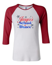 Load image into Gallery viewer, Jenyce's School of Dance 3/4 Ladies Raglan