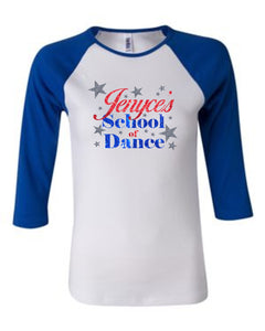 Jenyce's School of Dance 3/4 Ladies Raglan