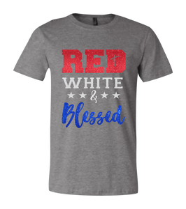 Red White & Blessed Short Sleeve Graphic T-shirt