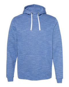 2XL Royal Melange Hooded Sweatshirt