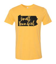 Load image into Gallery viewer, Small Town Girl with State Short Sleeve Graphic T-shirt