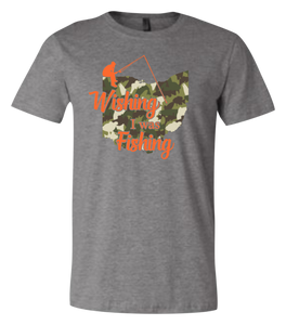Wishing I Was Fishing Short Sleeve Graphic T-shirt