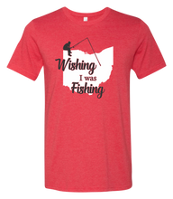 Load image into Gallery viewer, Wishing I Was Fishing Short Sleeve Graphic T-shirt