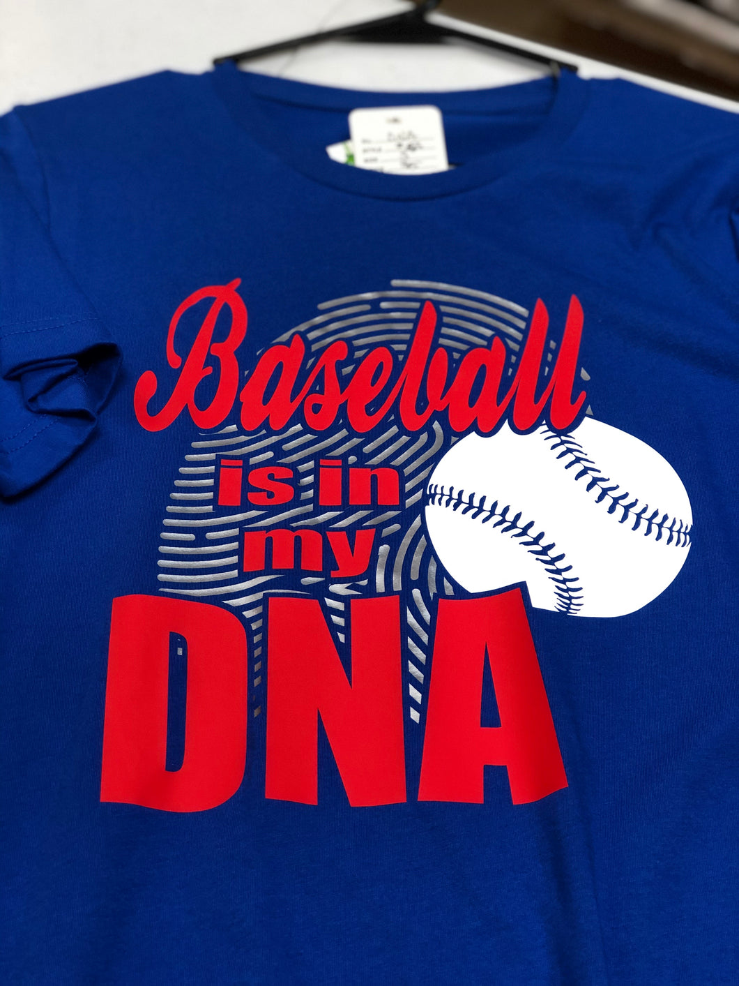 Royal Baseball is in my DNA Short Sleeve Shirt