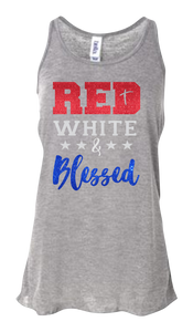 Red White & Blessed Women's Flowy Tank Top