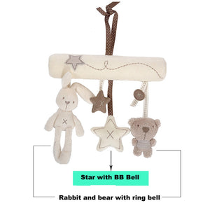 Rabbit and Bear babies hanging mobile