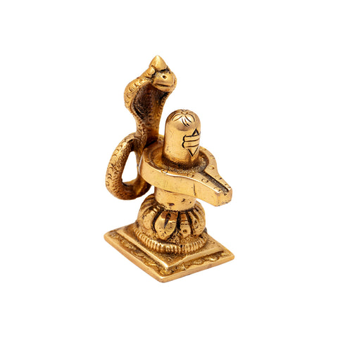 Handcrafted Brass Shivling Statue