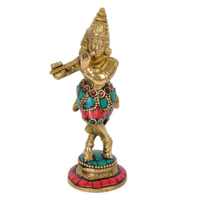 God Lord Krishna Statue Idol Murti for Pooja