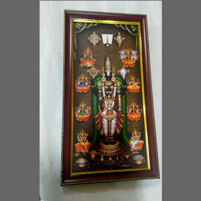 Lord Venkateshwara hand Made oil Painting