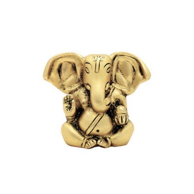 Cute Matt Gold Appu Ganesh Idol Small Statue