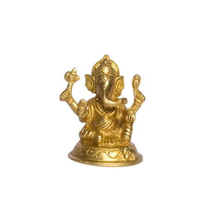 Ganesh Ji Small Brass Idol