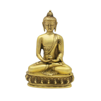 Lotus Buddha statue Brass Idol