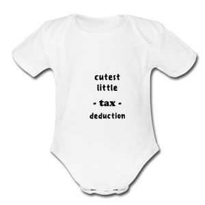 CUTEST LITTLE TAX DEDUCTION - white