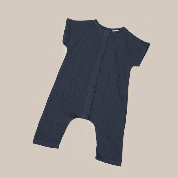 Black Grey One Piece baby girls boys Playsuit