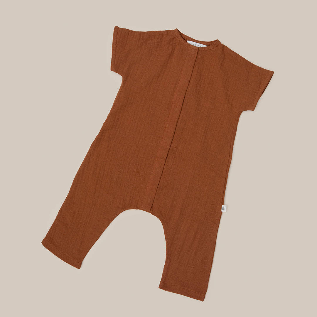 Cinnamon Orange One Piece baby boys baby girls Playsuit