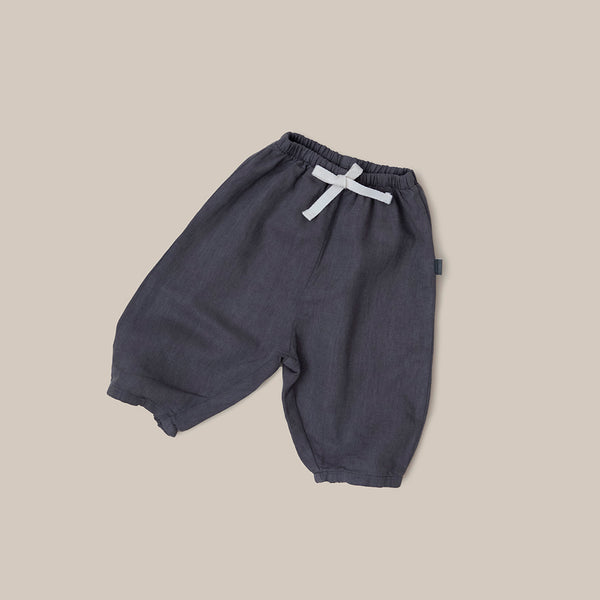 Grey linen baby boy baby girl pants