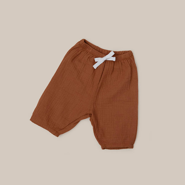 Cinnamon Orange organic cotton Pants for baby boy baby girl