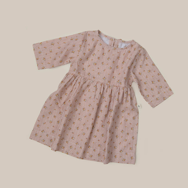 Baby Girls Flower Linen Summer Dress