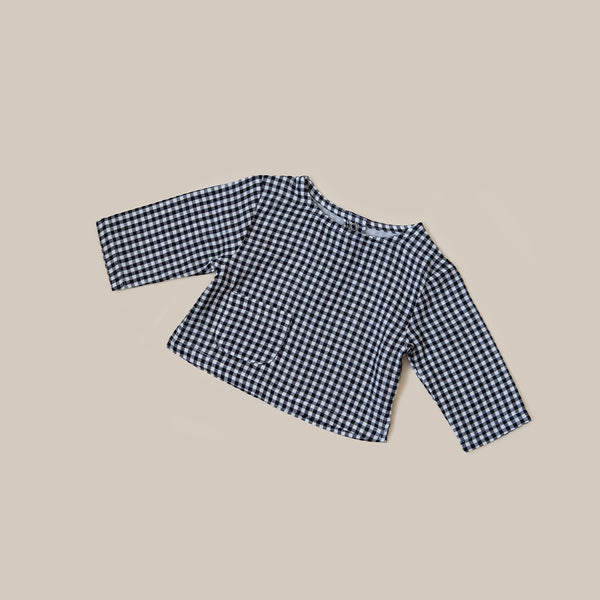 Checked Gingham baby kids boys girls t shirt