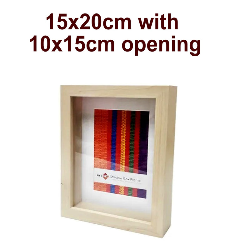 Unigift Natural Deep Shadow Box Photo Picture Frame 15x20cm