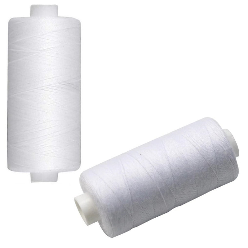 Kraft Collection Sewing Thread White 500m x 2