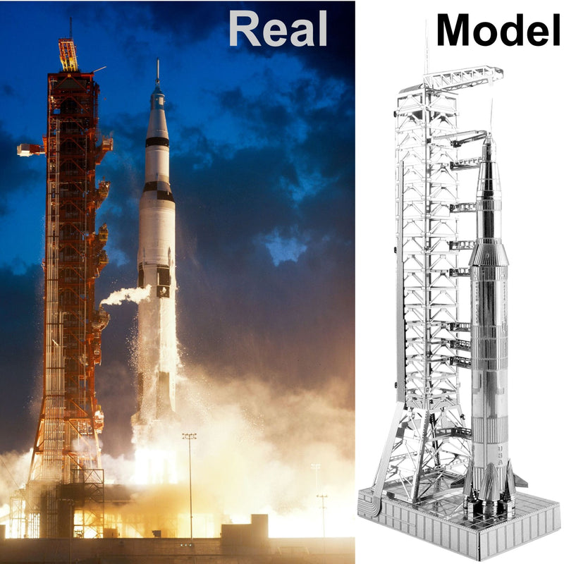 Metal Earth Metal Earth - Apollo Saturn V with Gantry