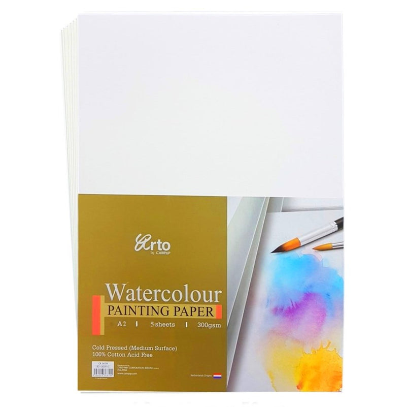 Arto 100% Cotton Watercolour Paper - A2 Cold Pressed 300gsm