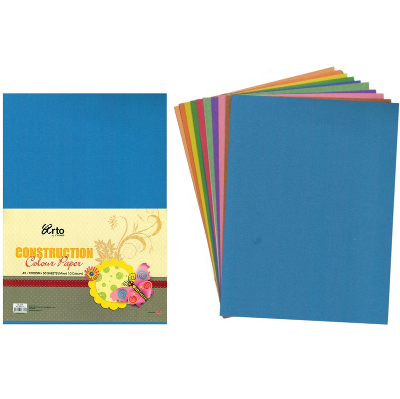 Arto Construction Art Paper - A3 - 50 Sheets