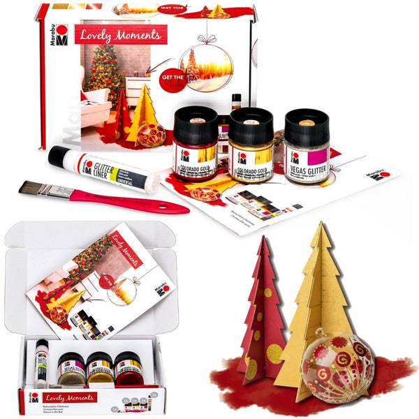 MARABU Christmas Home Decor Art Craft Kit - Lovely Moments
