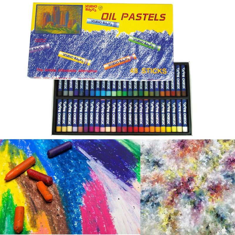 Studio Basics Artists Soft Oil Pastels Sticks Art Pastel - 48 pk