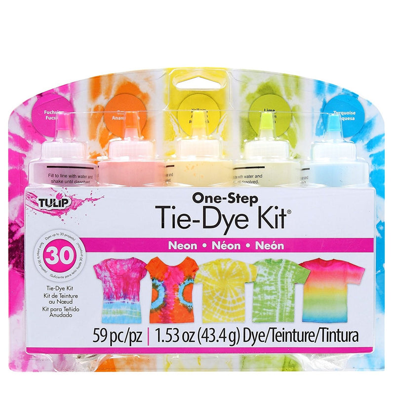 Tulip TULIP One Step Fabric Tie Dye Kit 5 Colours - Neon