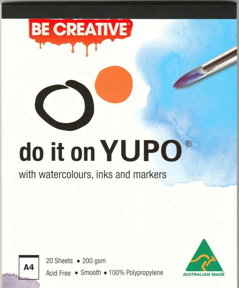 Australian Made Yupo Ultra Synthetic Paper Pad 200gsm 20 Sheets