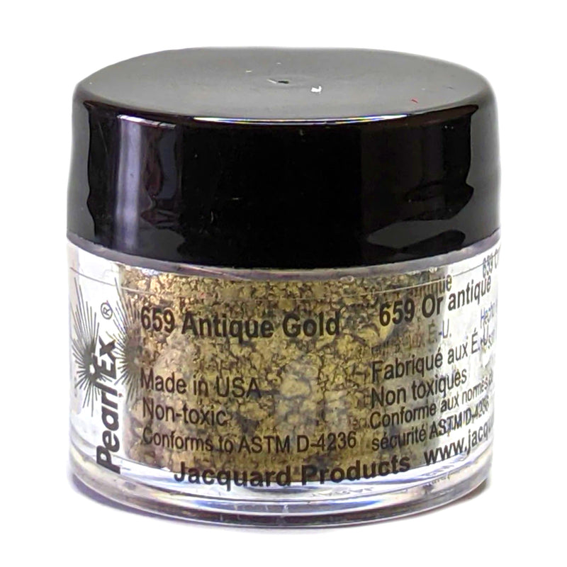 Jacquard Pearl Ex Mica Dry Powder Pigments - Antique Gold 3gm