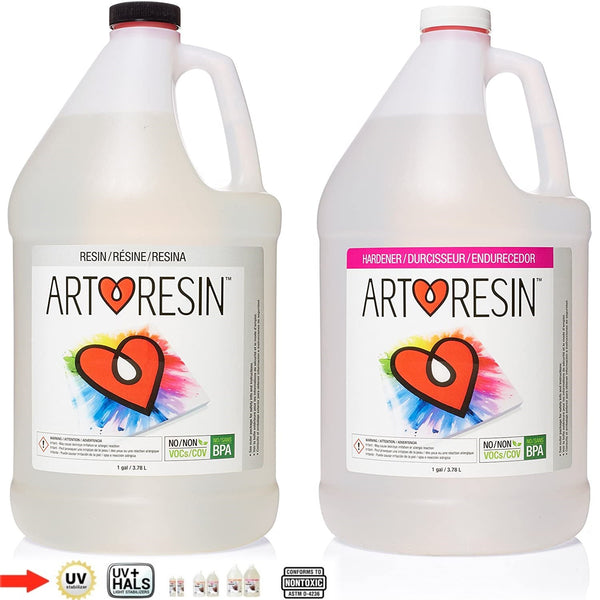 2 Part Kit Art Resin Epoxy High Gloss Ultra Clear Coat Casting 1:1 ARTRESIN