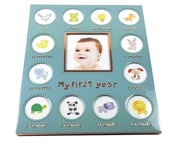 Baby's First Year Photo Frame Collage - Baby Boy