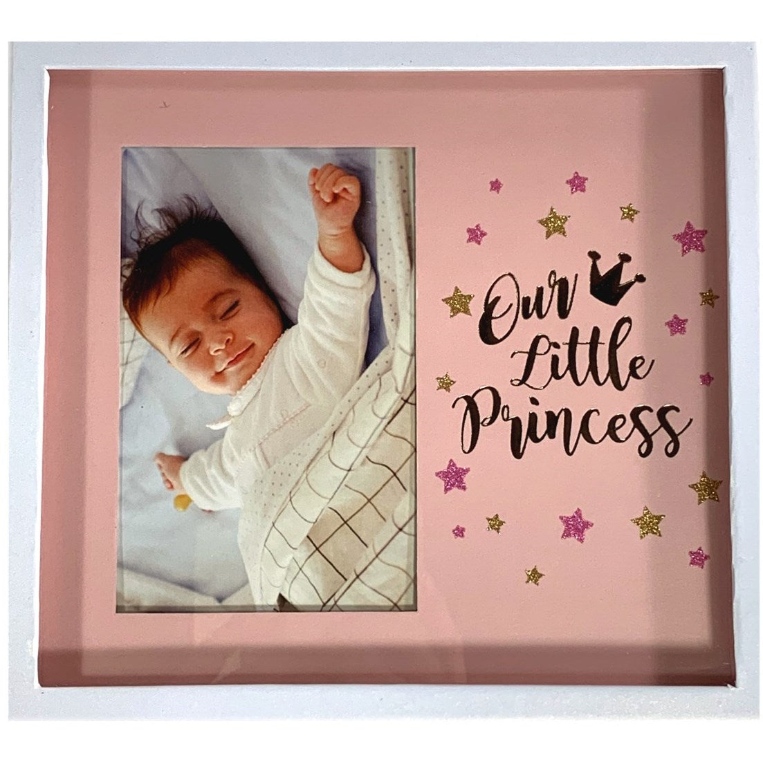 Baby Girl Shadow Box Photo Frame