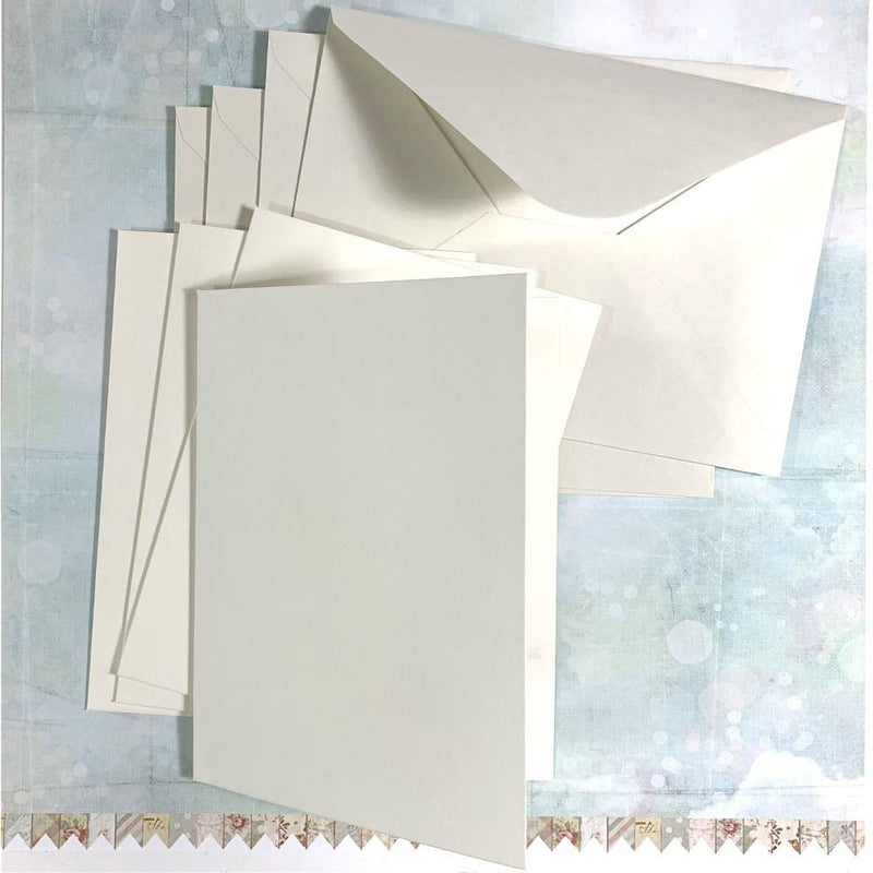Kraft Collection White Blank Cards & Envelopes 350gsm