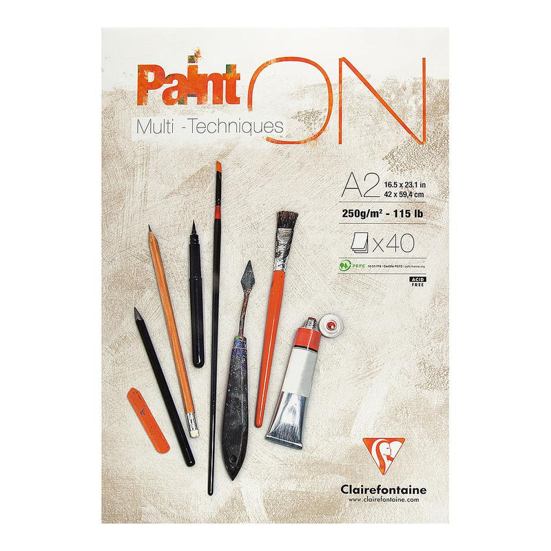 Clairefontaine Clairefontaine Paint'ON White 250gsm Multi Media Paper Pad